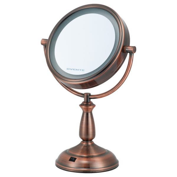 Ovente Dual Sided LED Lighted Round Mirror