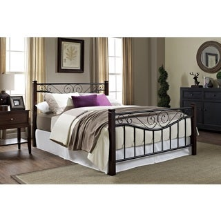 Hamilton Metal Bed with Wooden Posts