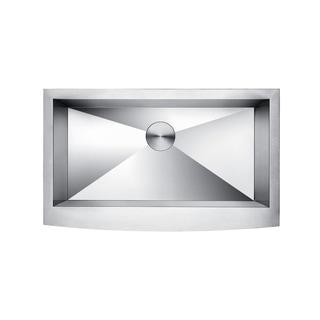 Lottare 600107 Zeromano Handmade Undermount Stainless Steel Apron Sink with Bottom Grid