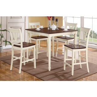 Petrich Cherry and Cream Finished Counter Height 5-piece Dining Set