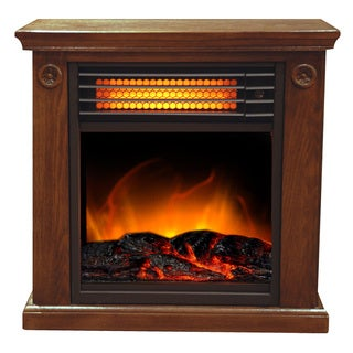 Electric Portable 1500-watt Espresso Compact Infrared Fireplace