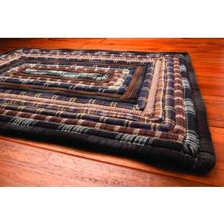 Feller Black Cotton Rectangle Rug (1'8 x 2'6)