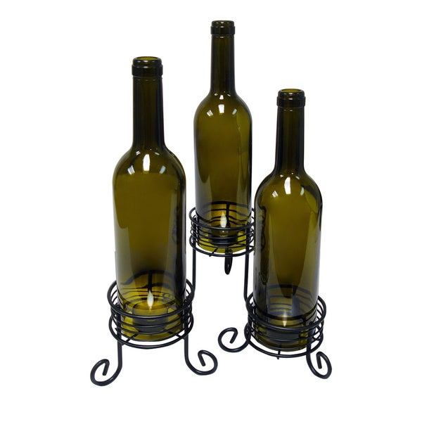 ... results for Epicureanit Recycled Wine Bottle Candle Holders Set Of 3