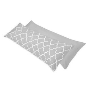 Sweet Jojo Designs Trellis Full Length Double Zippered Body Pillow Case Cover