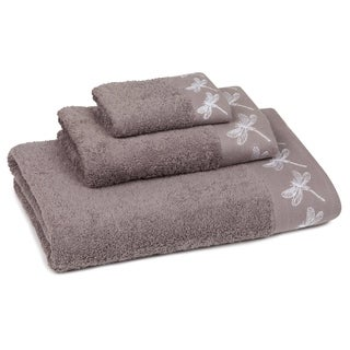 Dragonfly Embroidered 3-piece Towel Set