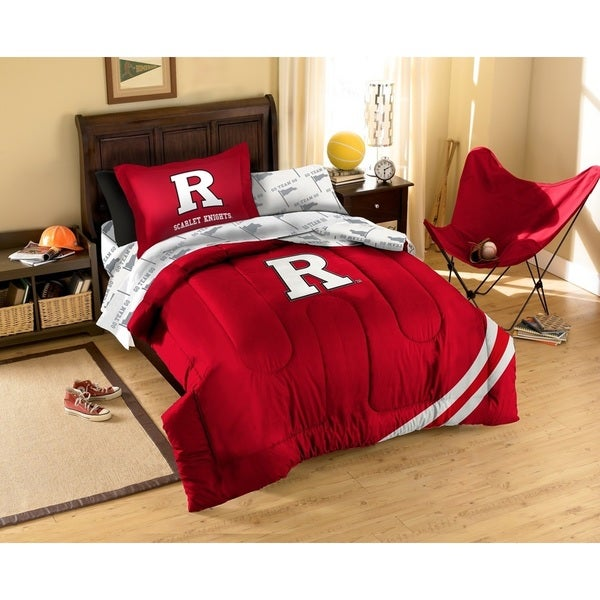 Rutgers University Scarlet Knights 7-piece Bed in a Bag Set