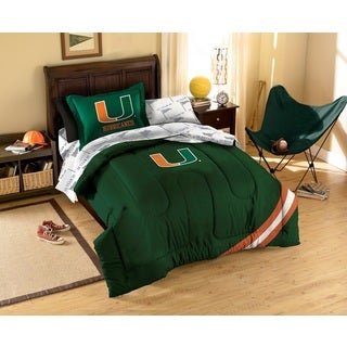 University of Miami Hurricanes 7-piece Bed in a Bag Set