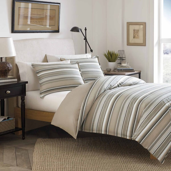 Stone Cottage Fresno Neutral Cotton 3-piece Duvet Cover Set
