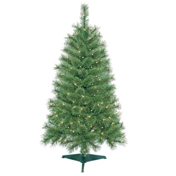 4-foot Pre-Lit Artificial Christmas Tree