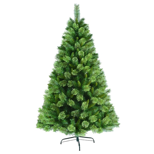 6.5-foot Un-lit Artificial Christmas Tree with Metal Base