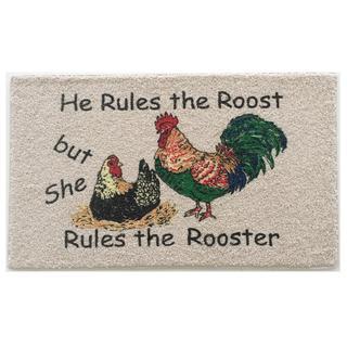 Rooster Motif Indoor Mat