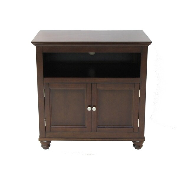 32 Inch Mocha Tv Stand 16446647 Overstock Com Shopping