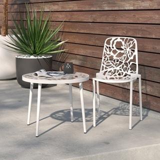 Devon Modern White Aluminum Armless Chair