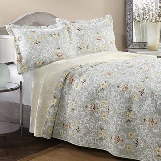 Laura Ashley Sheffield Reversible 3-piece Cotton Quilt Set