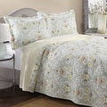 Laura Ashley Sheffield Reversible 3-piece Cotton Quilt Set