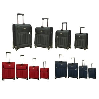 Hercules Fast Track 4-piece Spinner Luggage Set