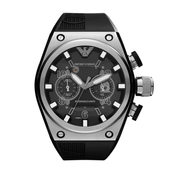 Emporio Armani Men's Sports AR4902 Super Meccanico Stainless Steel Watch