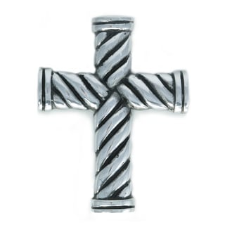 Handcrafted Aluminum Rope Motif Wall Cross (India)