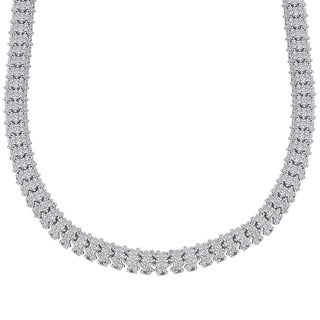 Finesque Silverplated 1/4ct TDW Diamond Necklace (I-J, I2-I3)