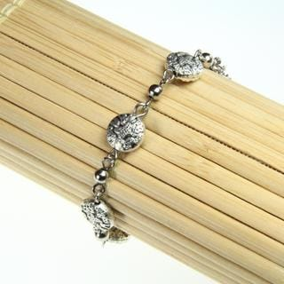 Tibetan Silver Engraved Butterfly Bracelet (China)