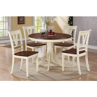 Turhal Cherry and Off-white Finish 5-piece Dining Set