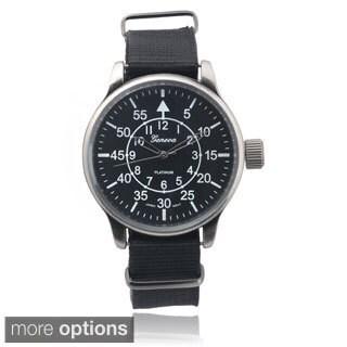 Geneva Platinum Men's Fabric Watch
