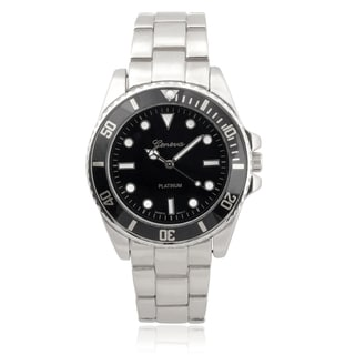 Geneva Platinum Men's Stainless Steel Quartz Link Watch