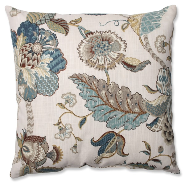 Pillow Perfect Finders Keepers Blue Throw Pillow