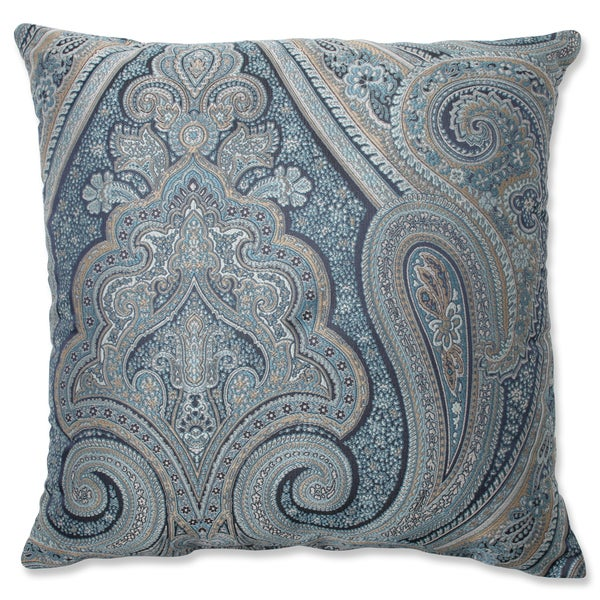 Pillow Perfect Royal Paisley Blue Throw Pillow