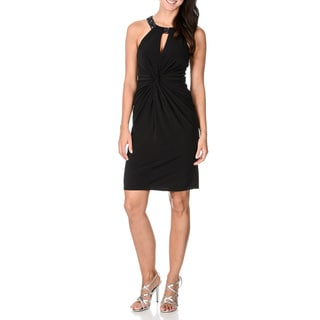 Decode 1.8 Women's Black Embellished Halter Short Dress