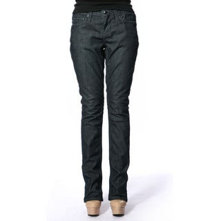 Stitch's Women's Blue Denim Straight Leg Jeans