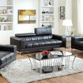 Furniture of America Eona Bonded Leather Pneumatic Gas Lift Headrest Sofa