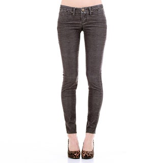 Stitch's Women's Grey Thin-cord Skinny Jeans