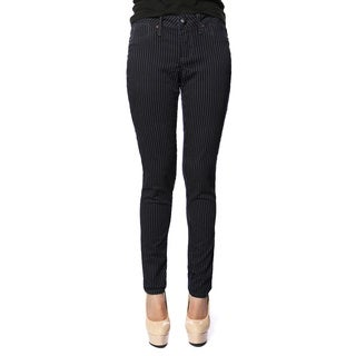 Stitches Women's Black Pinstripe Skinny Pants