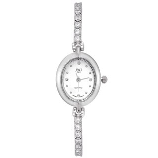 JWI Women's Brass Cubic Zirconia Watch