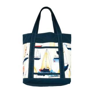 Ships Ahoy Novelty Fashion Shopping Tote Bag