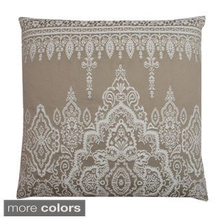 Solei Embroidered Feather Filled 20-inch Throw Pillow