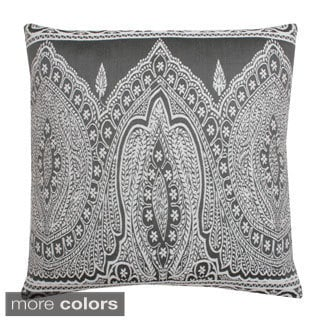 Taj Embroidered Feather Filled 20-inch Throw Pillow