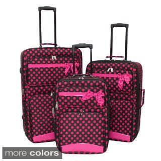 World Sport Ribbon Mini Polka Dots 3-piece Expandable Luggage Set