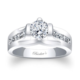 Barkev's Designer 14k White Gold 1ct TDW Diamond Engagement Ring (F-G, SI1-SI2)