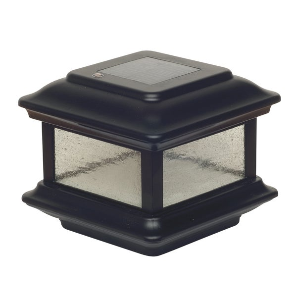 4-inch Square Colonial Solar Post Cap (Set of 2)