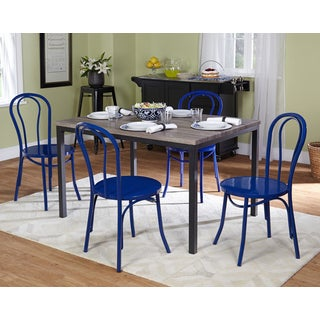 Simple Living Vintage Inspired Navy Blue 5-piece Dining Set