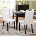 Tilo White Leatherette Parson Dining Chairs (Set of 2)