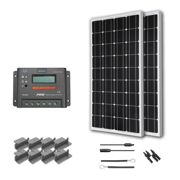 Renogy Off-Grid RV Solar Kit: 200W Monocrystalline 12V