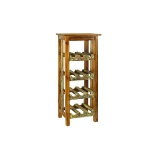 Lyon Rustic Mahogany Wood Wine Rack