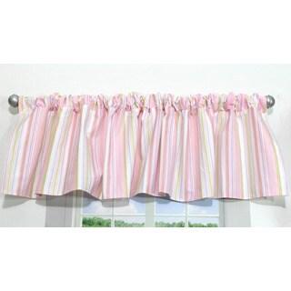 Nurture Imagination Pink Stripe Valance