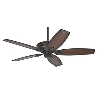 Hunter Prestige 52-inch Bingham Cocoa Fan and Burnished Alder Carved Wood Blades