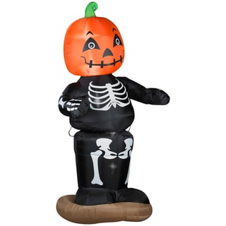 Animated Dancing Pumpkin Boy Skeleton