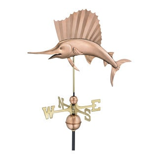Good Directions Polished Copper Sailfish Weathervane