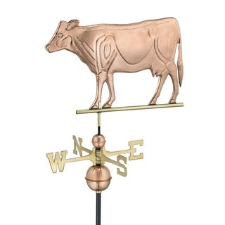 Good Directions Polished Copper Dairy Cow Weathervane
